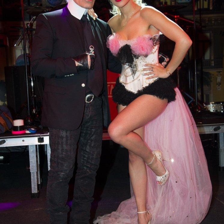 Karl Lagerfeld and Rita Ora