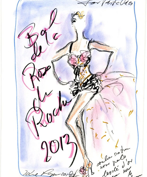 Sketch dress Rita Ora